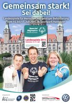 Plakat Special Olympics Landesspiele 2015
